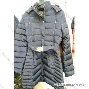 Bunda/kabát zimní prodloužená dámská nadrozměrná (L-4XL) WANG WNG19BZ1803