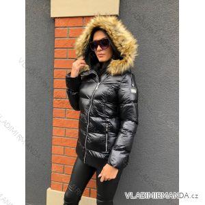 Bunda Kabát zimní s kožíškem dámský prošívaný (s-m) MFASHION MF19119B