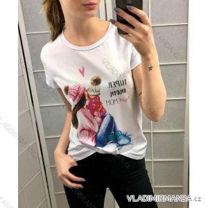 Tričko krátký rukáv dámské maminka baby girl (UNI S/M) ITALSKÁ MODA IM219384