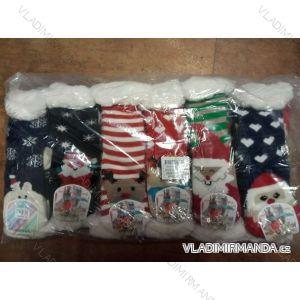 Ponožky teplé vánoční motiv dorost dívčí dámské (27-38) VIRGINA NA0840