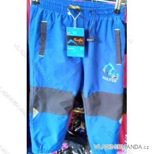Kalhoty šusťákové zateplené flaušem dětské dívčí a chlapecké (98-128) KUGO H-590