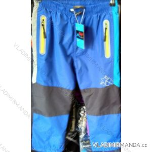 Kalhoty šusťákové zateplené flaušem dětské dorost dívčí a chlapecké (116-146) KUGO D918