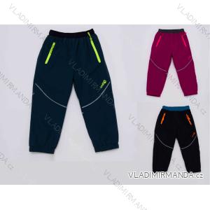 kalhoty Šusťákové zateplené flaušem kojenecké dětské dívčí a chlapecké (80-92) WOLF B2971