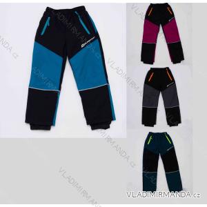 kalhoty Šusťákové zateplené flaušem dětské dívčí a chlapecké (98-128) WOLF B2972