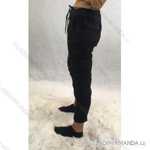 Kalhoty dlouhé do pasu semišové dámské (uni s/m) ITALSKá MóDA IM9194013