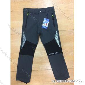 Kalhoty softshell zateplené flaušem dorost chlapecké (134-164) SEZON SF-1832