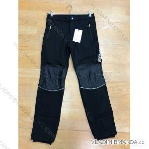 Kalhoty softshell zateplené flaušem dorost chlapecké (134-164) SEZON T-13