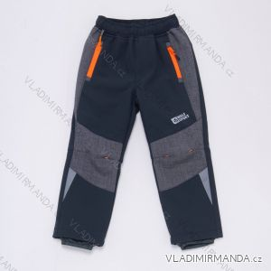 Kalhoty softshellové dětské dívčí a chlapecké (98-128) WOLF B2989