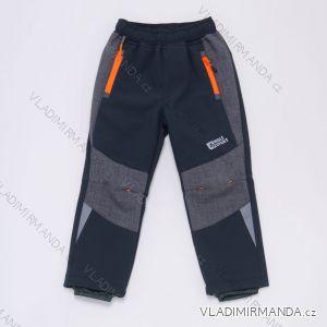 Kalhoty softshell zateplené flaušem dětské dívčí a chlapecké (98-128) WOLF B2989W