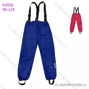 Kalhoty zimní oteplovačky lyžařské dětské dívčí a chlapecké (98-128) KUGO B303B