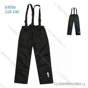 Kalhoty zimní oteplovačky lyžařské dětské dorost dívčí a chlapecké (110-140) KUGO B305B