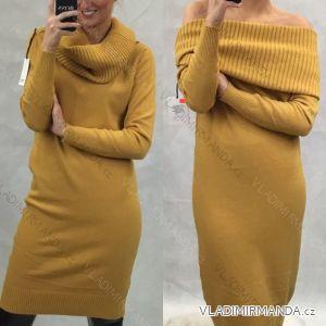 šaty upletové teplé rolák dlouhý rukáv dámský (uni m/l) ITALSKA MODA IM519550