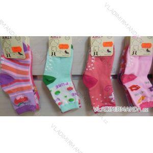 Ponožky  slabé protiskluzové dětské dívčí (17-23,23-26) AMZF ZCB3-516-1