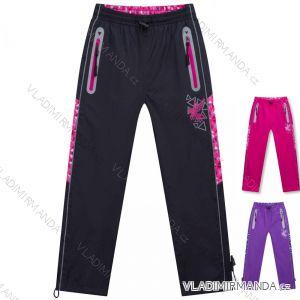 Kalhoty šusťákové zateplené flaušem fleece dětské dívčí a chlapecké (98-128) KUGO D916