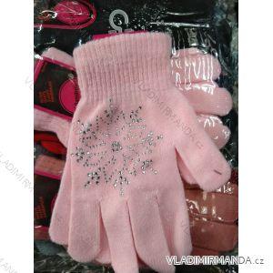 Rukavice prstové dorost dívčí a dámské (one size) SANDROU SAN19495
