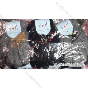 Rukavice prstové teplé dětské chlapecké (14 cm)  YOCLUB POLSKO PV718R-200