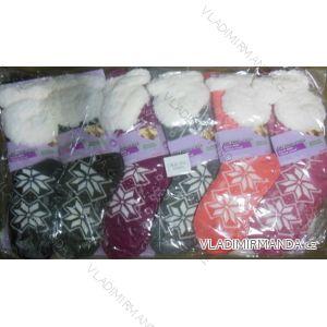 Ponožky hedvábné zateplené bavlnou dámské (one size) LOOKEN SM-HL-2021