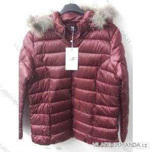 Bunda šusťáková zimní s kapucí a kožíškem dámská nadrozměrná (46-54) POLSKÁ MÓDA BLI19YP-18057-12