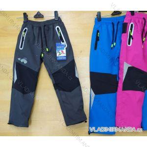 Kalhoty šusťákové zateplené flaušem dětské dívčí a chlapecké (98-128) SEZON SEZ19SF-1817