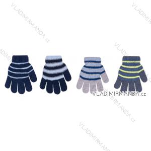 Rukavice teplé hrubé dětské dorost chlapecké (14-16cm) YOCLUB POLSKO PV319R-214