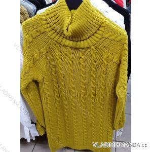 Šaty pletené rolák dlouhý rukáv dámský (uni s-l) ITALSKá MóDA IM319986
