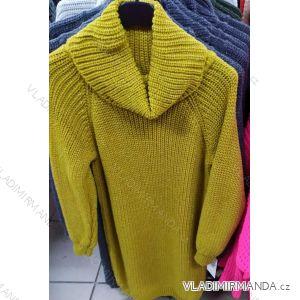 Šaty pletené rolák  dlouhý rukáv dámský (uni s-l) ITALSKá MóDA IM319988