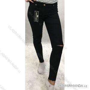 Kalhoty rifle jeans dámské skinny pružné elastické (xs-m-lx-l) FRANCOUZSKÁ MODA  IMTe635