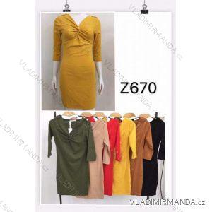 Šaty 3/4 rukáv dámské (s-xl) M.B.21 MA719Z670