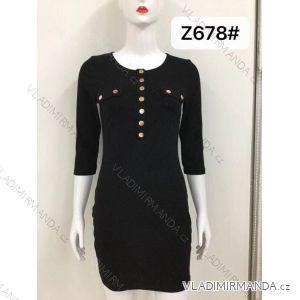 Šaty se cvočky 3/4 rukáv dámské (s-xl) M.B.21 MA719Z678