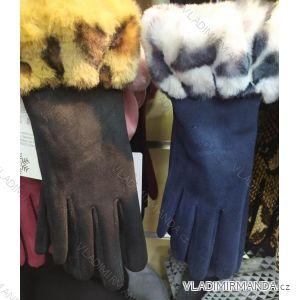 Rukavice elegantní s kožíškem dámské (ONE SIZE) POLSKÁ VÝROBA PV319535
