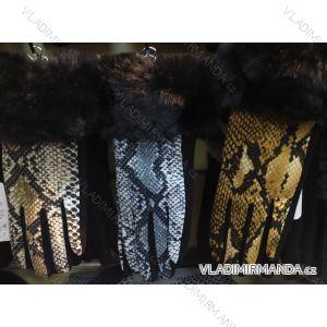 Rukavice elegantní s kožíškem dámské (ONE SIZE) POLSKÁ VÝROBA PV319536