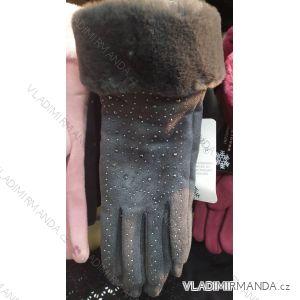 Rukavice elegantní s kožíškem dámské (ONE SIZE) POLSKÁ VÝROBA PV319537