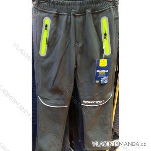 Kalhoty softshell zateplené flaušem zimní dětské chlapecké (122) GLASSBEAR ACT19WL-W1001