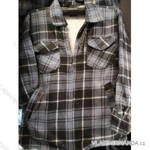 Košile zateplená beránkem na zip dlouhý rukáv pánská (m-3xl) HENXING MA919805