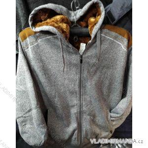 Mikina zateplená s kapucí dlouhý rukáv pánská (m-3xl) POLSKÁ VÝROBA MA919PL0855