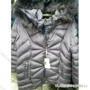 Bunda s kožíškem zimní dámská nadrozměrná (2xl-6xl) ELLEN ROSE PM119T-001