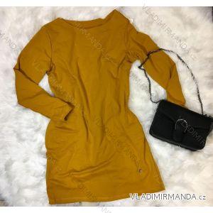 Šaty klasik dlouhý rukáv dámské nadrozměr (uni xl-2xl) ITALSKá MóDA IM519081