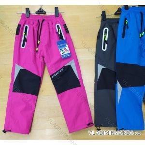 Kalhoty šusťákové zateplené flaušem dětské dívčí a chlapecké (98-128) SEZON SEZ19SF-1813