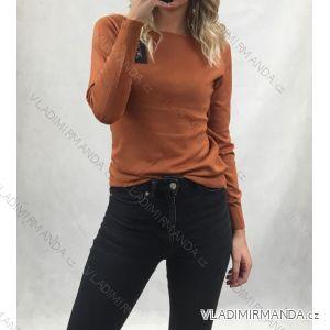 Svetr pulovr upletový tenký dlouhý rukáv dámské (uni s-m) ITALSKá MóDA IM518629