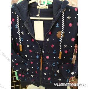 Mikina s kapucí dětská dorost dívčí (116-146) HKD HKD191041