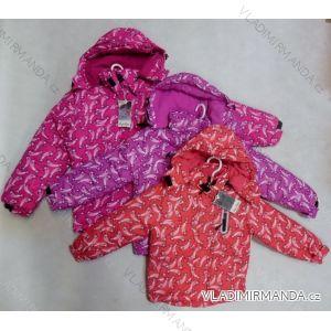 Bunda zimní detská a  dorostenecká dívčí (110-140) RX YYB-1318