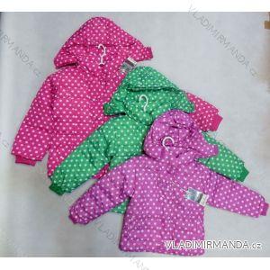Bunda zimní detská a  dorostenecká dívčí (110-140) RX YYB-1333