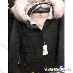 Bunda s kožíškem zimní dámská nadrozměrná (2xl-6xl) ELLEN ROSE PM119-929