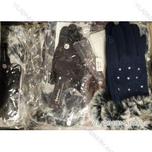 Rukavice prstové teplé s kožíškem dámské (ONE SIZE) SANDROU SZM-294MT