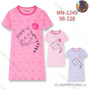 Noční košile s krátkým rukávem dětská dívčí (98-128) KUGO MN-1249