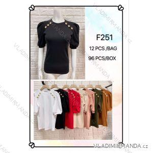 Tričko se cvočky krátký rukáv dámské (s-xl) MB21 MA720F251