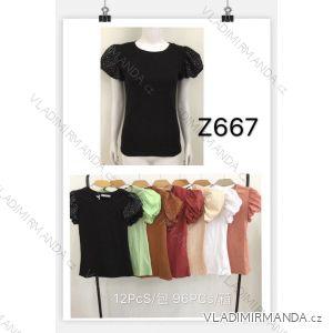 Tričko se cvočky krátký rukáv dámské (s-xl) MB21 MA720Z667