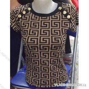 Tričko se cvočky krátký rukáv dámské (s-xl) MB21 MA720008