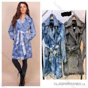 Bunda alá kabát jarní riflová dámská (s-xl) Polská moda JMK19029