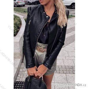 Bunda jarní koženka dámská (s-xl) Polská moda JMK19042